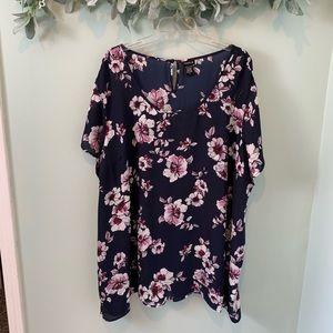 BOGO 50% Torrid Floral Short Sleeve Blouse